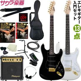 エレキギター SELDER STG-18 13点初心者セット【今だけ教則DVD付き!】【エレキギター ゴールドパーツ セルダー 入門セット STG18】【大型】