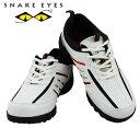 SNAKE EYES(スネークアイ) ゴルフシューズ SESH-4502 スパイクレスシューズ ホワイト