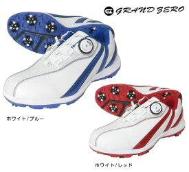GRAND ZERO(グランドゼロ) ソフトスパイクシューズ GZS-017 ワイアーロックシステム搭載ゴルフシューズ