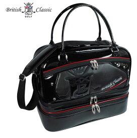 British Classic(ブリティッシュクラシック) 3段式ボストンバッグ BCBB-7290 ブラック ショルダーストラップ付き