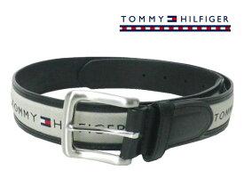 TOMMY HILFIGER(トミーヒルフィガー) [ブラック/カーキ] 牛革コンビベルト USモデル