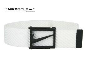 NIKE GOLF(ナイキゴルフ) ウェブベルト Diagonal Web BELT ホワイト カットレングスタイプ USモデル