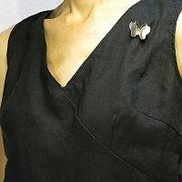 プラチナ900K18バタフライ(蝶)モチーフブローチ