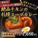 ランキング上位入賞!絶品チキンの札幌スープカレー 2食 セット 送料無料 スープカレー レトルト 人気 カレースープ …