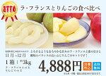 ラ・フランスとりんごの食べ比べ約3Kg