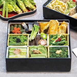 山菜料亭「玉貴」特製 新緑の山菜重箱 一段 〈山菜の重〉 【老舗料亭の重箱 郷土料理】