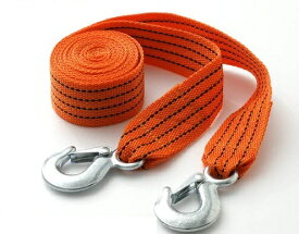 3tまでOK!牽引ロープ 3.5m/エンスト/タイヤ埋まりに 車載工具 けん引ロープ