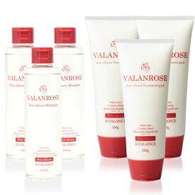 バランローズ ノンシリコンシャンプー&トリートメント:3セット(VALANROSE Non-silicon Shampoo&Non-slicon Treatment pack 200ml / 200g バランローズ シャンプー トリートメント ノンシリコン ヘアケア 髪)