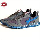 スニーカー靴メンズウィズW6YZブルーグレーカモフラ迷彩柄イタリアWI191-10037JET