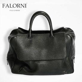 FALORNI ファロルニ falor ファロール ボストンバッグ ブラック/黒 メンズ レディース 男女兼用 本革 イタリア製 1000