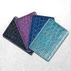 クロコダイル折り財布小銭入れジップ付きRED/レッド(送料無料)