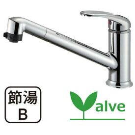 【送料無料】 【三栄水栓】 【SANEI】シングルワンホールスプレー混合栓 キッチン用 K87101JV-13