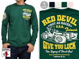 CAR RACE長袖Tシャツ TEDMAN テッドマン TDLS-317 ロンT 送料無料 エフ商会【smtb-k】【kb】10P03Dec16【RCP】【thxgd_18】