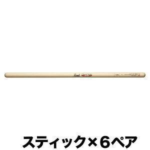【ドラムスティック×6ペア】パール Pearl 115HC ヒッコリー ドラムスティック クリアラッカーフィニッシュ [14.5x405]【ポイント2倍】