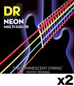 【弦×2セット】DR NMCB-45×2[45-105] NEON マルチカラー ベース弦【メール便発送・全国送料無料・代金引換不可】【smtb-TK】【ポイント2倍】