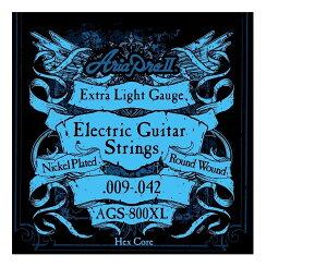 【弦×12セット】アリア ARIA AGS-800XL×12セット エレキギター弦/エキストラライトゲージ【メール便発送・全国送料無料・代金引換不可】【smtb-TK】【ポイント2倍】