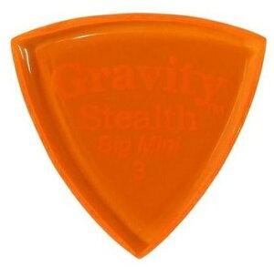 【2枚セット】GRAVITY GUITAR PICKS GSSB3P Stealth -Big Mini- [3.0mm/Orange] アクリル ピック【ポイント5倍】【メール便発送・全国送料無料・代金引換不可】【smtb-TK】