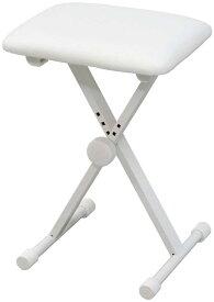 【ポイント2倍】【送料無料】キクタニ KIKUTANI KB-60 WHT(ホワイト) 4段階高さ調整 折り畳みイス キーボードベンチ ピアノ椅子【smtb-TK】