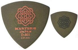 【10枚セット】MASTER8 JAPAN D801S-TR080×10 D-801 ポリアセタール 三角 0.8mm HARD GRIP 滑り止め加工 ギターピック【メール便発送・全国送料無料・代金引換不可】【smtb-TK】【ポイント2倍】