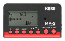 【ポイント2倍】【メール便発送・全国送料無料・代金引換不可】コルグ KORG MA-2-BKRD カード型 電子メトロノーム【smtb-TK】