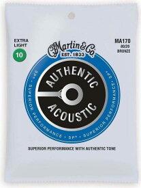 MARTIN MA170×1 [10-47] AUTHENTIC ACOUSTIC SP/Extra Light アコースティックギター弦【メール便発送・全国送料無料・代金引換不可】【smtb-TK】【ポイント2倍】