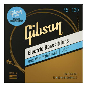 Gibson SBG5-LSL×1 [45-130]Brite Wire Long Scale 5-Strings/Light 5弦ベース弦【メール便発送・全国送料無料・代金引換不可】【smtb-TK】【ポイント2倍】