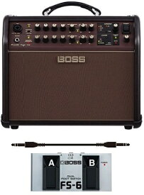 【ポイント2倍】【送料無料】ボス BOSS ACS-LIVE+フットスイッチ/FS-6+audio-technica製接続ケーブル Acoustic Singer Live Acoustic Amplifier アコースティック・ステージ・アンプの新定番【smtb-TK】