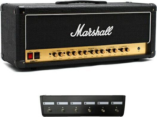 【限定Marshallピック2枚付】Marshall DSL100H(6Wayフットスイッチ/PEDL91016付) アンプヘッド 【送料無料】マーシャル 【正規輸入品】【smtb-TK】【ポイント2倍】