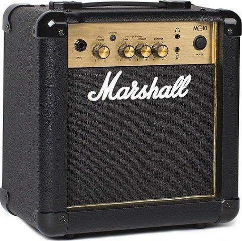 【限定Marshallピック2枚付】【送料無料】マーシャル Marshall MG10 Gold 自宅練習に最適【正規輸入品】【smtb-TK】