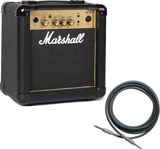 【限定Marshallピック2枚付】【送料無料】マーシャル Marshall MG10 Gold(シールド付) 自宅練習に最適【正規輸入品】【smtb-TK】