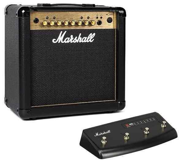 【ポイント2倍】【限定Marshallピック2枚付】【送料無料】マーシャル Marshall MG15FX Gold(フットスイッチ/PEDL90008付) 15Wのコンパクトアンプ【正規輸入品】【smtb-TK】
