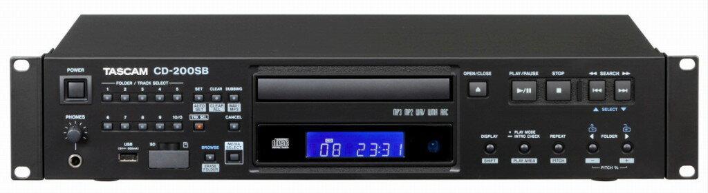 【ポイント2倍】【送料無料】タスカム TASCAM CD-200SB SD/SDHCカード USBメモリー対応 業務用CDプレーヤー【smtb-TK】