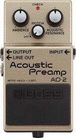 【送料無料】ボス BOSS AD-2 Acoustic Preamp エレアコ用プリアンプ【smtb-TK】【ポイント5倍】