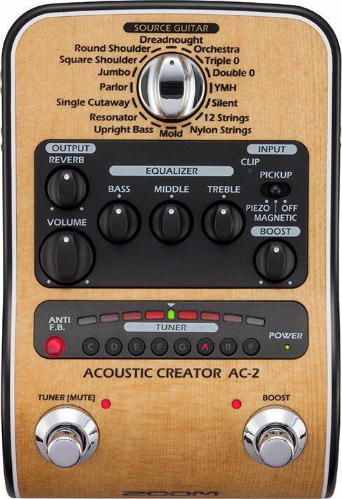 【ポイント2倍】【限定ZOOMピック2枚付】【送料無料】ズーム ZOOM AC-2(ACアダプター付属) ピックアップで失われたボディ鳴りを再現 Acoustic Creator【smtb-TK】