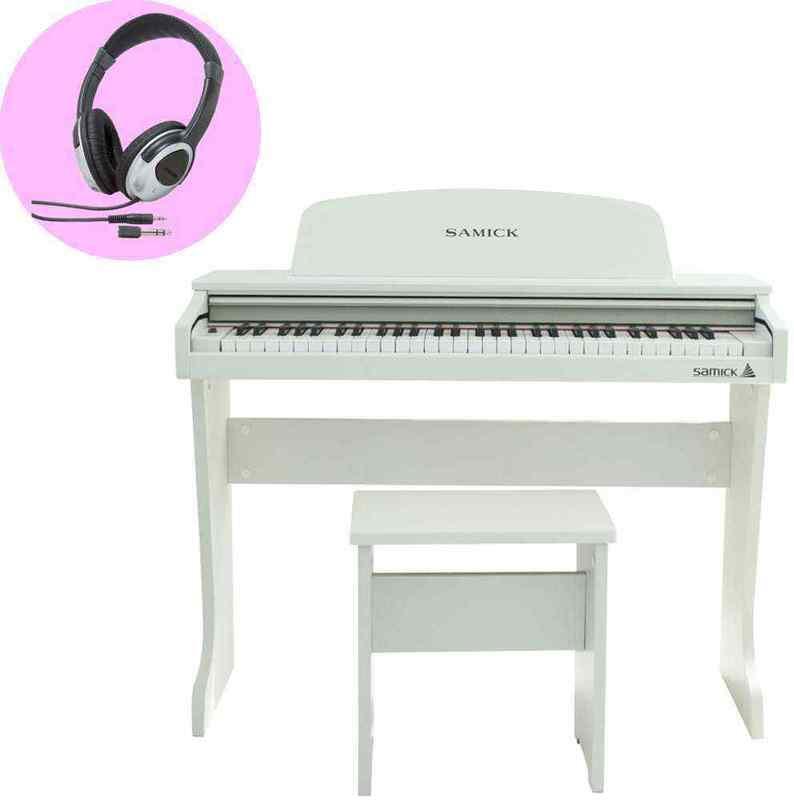 【ポイント2倍】【送料無料】SAMICK 61KID-O2/White/ヘッドホン付 ミニ デジタルピアノ/ホワイト(白) 61鍵盤 子供用 電子ピアノ【smtb-TK】