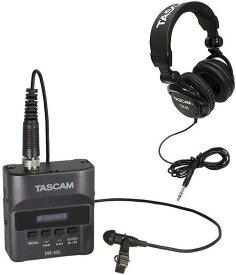 【ポイント2倍】【送料無料】タスカム TASCAM DR-10L + TH-02 声を録るなら、この1台。身に着けられるピンマイクレコーダー + 純正モニターヘッドホン【smtb-TK】