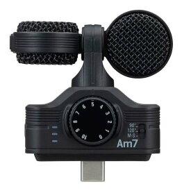 ZOOM Am7 USB Type-C接続のAndroidデバイス用高音質ステレオマイク【送料無料】【smtb-TK】【ポイント5倍】