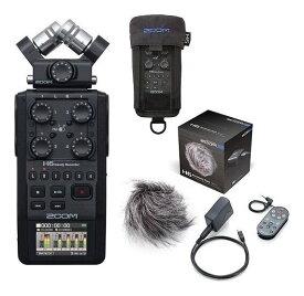 ZOOM H6/BLK(アクセサリーパック/APH-6+専用プロテクティブケース/PCH-6付) マイク交換ハンディレコーダー ブラック・エディション【送料無料】【smtb-TK】