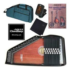 アリア ARIA ACH-21+専用弦+教則DVD+チューナー+クロス コードハープ/オートハープ 【送料無料】【smtb-TK】