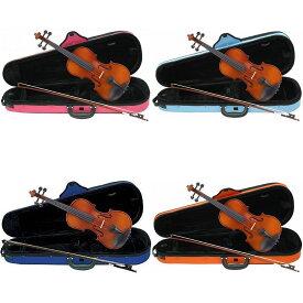 【ポイント2倍】【送料無料】Carlo giordano VS-1C バイオリンセット [サイズ:4/4 3/4 1/2 1/4 1/8 1/10 1/16][ケース:ピンク 青 水色 オレンジ]【smtb-TK】