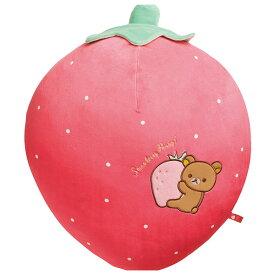 リラックマ いちごクッション (ストロベリーパーティー) MX41301 サンエックス りらっくま ぬいぐるみ 女の子プレゼント 誕生日プレゼント