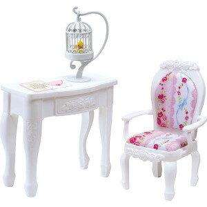 リカちゃん LF-12 プリンセスチェア&テーブル おうち お部屋 女の子 プレゼント 誕生日 プレゼント きせかえ 人形 タカラトミー