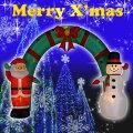 【送料無料】エアーディスプレイアーチサンタ&スノーマンWG-3538サンタクロースエアーディスプレイ室内用クリスマスディスプレイクリスマスイルミネーションクリスマス電飾