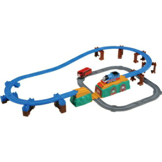-Thomas the tank engine Thomas Bertie and competition! The belly Rainbow Bridge set train toy boy gifts birthday gifts train toys Tomy(takaratomy)