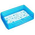 【送料無料】ビニールプール角形ブルー100cm×65cmドウシシャ100cmプールファミリープールビニールプール子供用ビニールプール家庭用プール