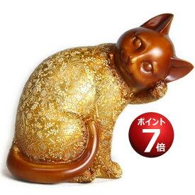 風水 金運 猫 置物 【 黄金 招き猫 】 風水インテリア 縁起物 ハッピー キャット … (招き猫) 金運が上がる