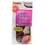 【桐灰化学】足の冷えない不思議なくつ下つま先インナーソックスブラックフリー断熱ヒート繊維で冷気をカット保温靴下