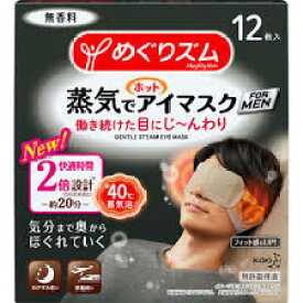 【花王】めぐりズム 蒸気でホットアイマスク 男性用 12枚入お取り寄せのため、入荷に10日ほどかかる場合があります。【HLS_DU】【05P08Feb15】