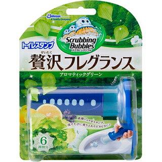 【ジョンソン株式会社】スクラビングバブル トイレスタンプ 贅沢フレグランス アロマティックグリーンの香り 本体 38gお取り寄せ商品のため入荷に10日ほどかかる場合があります。