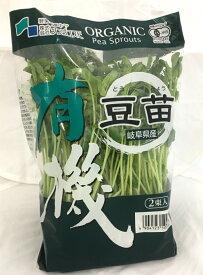 豆苗 有機 オーガニック 6パック入 とうみょう えんどう豆の新芽(スプラウト) 発芽野菜